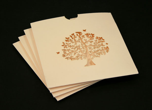 Laser Cut Wedding CD Covers - Potato Press