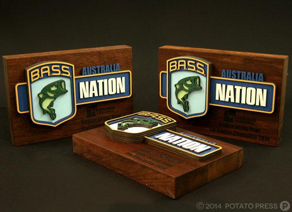 Bass-nation-fishing-all3-trophy-wood-layer-laser-lasercut-etch-timber-custom-goldcoast-gold-coast-sydney-brisbane-melbourne-australia
