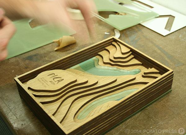 pica-awards-in-progress-handmoving-wood-pica-potatopress-australia-brisbane-goldcoast-international-australiawide-custom-trophy-joinery-timber-acrylic-custom