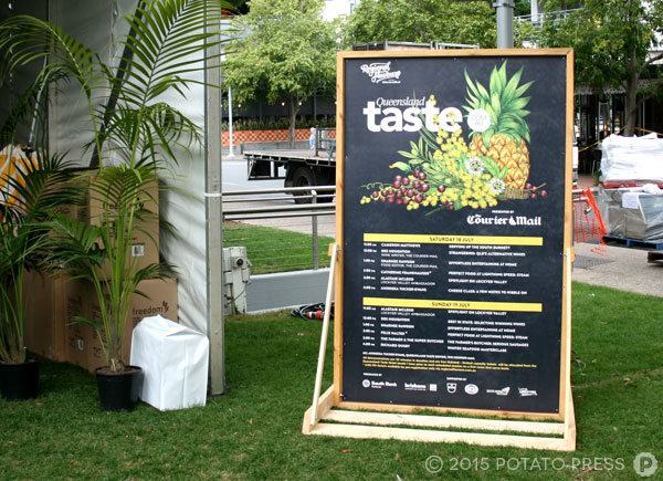 Potato-Press-regional-flavours-custom-free-standing-sign-food-festival-signage-printed-timber-sign-brisbane-australia-gold-coast
