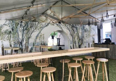 Regional flavours 2016 custom tables graphic fitout bespoke furniture bar timber wood