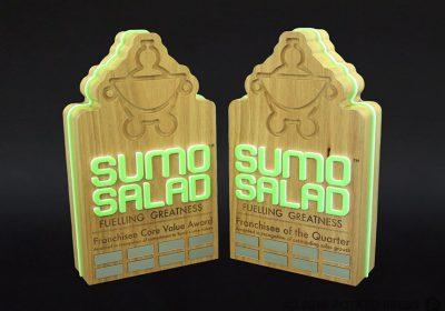 Sumo Salad Franchisee Custom Timber Awards