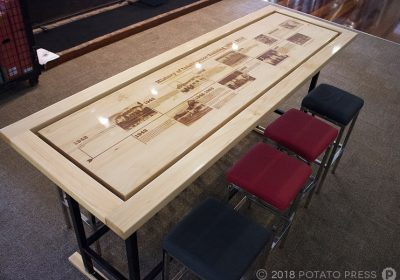 Australian Defence Force School of Intelligence - Custom Laser Etched Timber Table Top