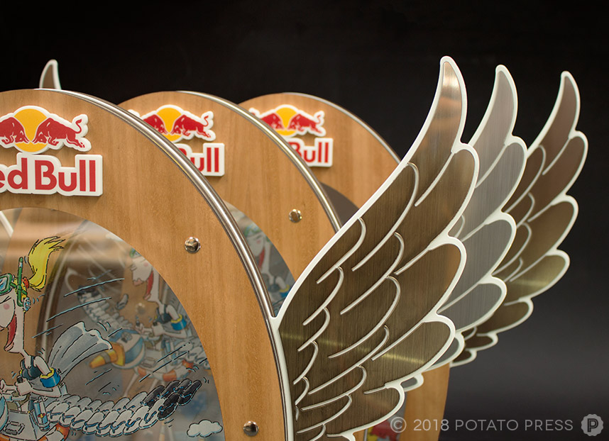 red bull custom trophy award flugtag sydney timber acrylic