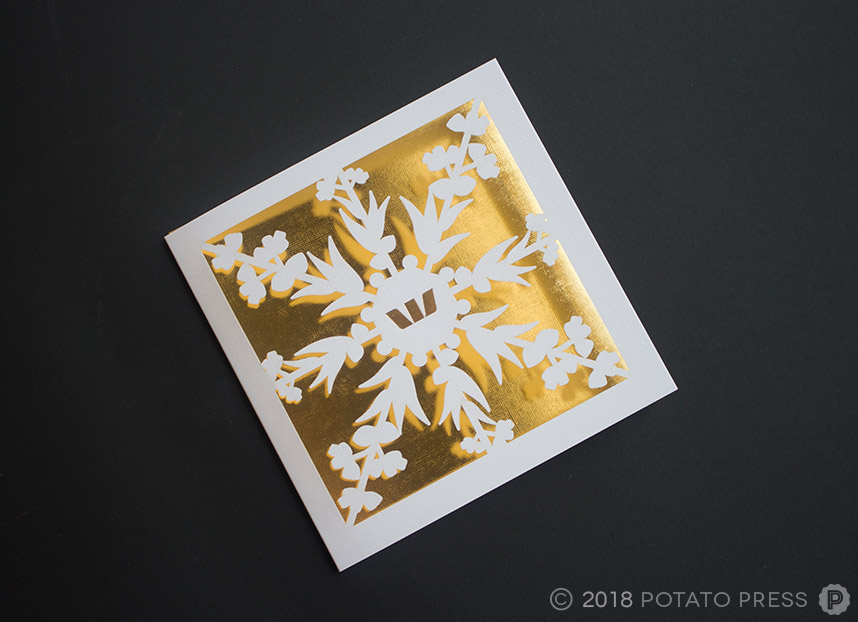 Westpac laser cut christmas cards foil custom
